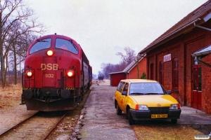 DSB MY 1132 med Rangertræk 89501 Vg-As. Møldrup 19.03.1996.