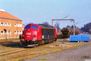 DSB MY 1145 rangerer med G 7228 Od-Re. Ringe 21.03.1996.