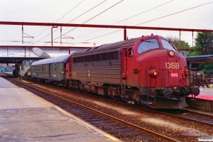 DSB MY 1143+DB Dienst 51 80 99-43 015-0+Uaai 82 80 995 2 920-2+Res som G 6173/6175 Pa-Fa-År. Fredericia 24.07.1996.