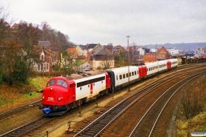DSB 90 86 00-21 105-0+ER 36 som M 8226 Rd-Fa. Vejle 21.11.1997.