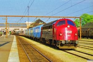 DSB MY 1153 med G 87281 Ng-Od. Odense 15.05.1998.