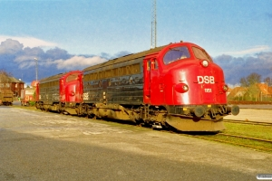 DSB MY 1151+MY 1149 - Maskiner til Eurotrac. Padborg 07.02.1999.