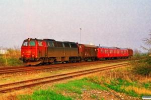 DSB MZ 1401+Gs+S-tog+Gs som G 6851 Htå-Ar. Kauslunde 23.04.1994.