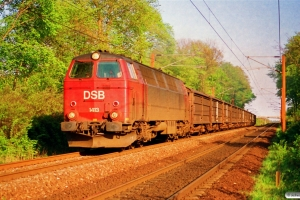 DSB MZ 1413+13 Hbis som G 8757 Ng-Od. Km 2,7 Ng (Nyborg-Hjulby) 07.05.1994.