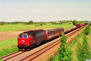 DSB MZ 1446 med GD 43765 Kk-Rfø. Km 111,2 Kh (Lundby-Vordingborg) 13.05.1994.