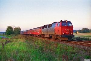 DSB MZ 1401 med Re 3164 Ab-Ngf. Km 45,1 Fa (Hedensted-Horsens) 23.09.1994.