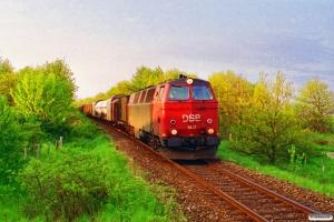 DSB MZ 1417 med G 7805 Rd-Vg. Km 37,0 Lg (Rødkærsbro-Viborg) 26.05.1995.