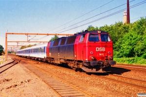DSB MZ 1411+DB ARKimbz+Bimz+Bim+Bimdz som IP 2187 Ar-Pa. Vamdrup 28.06.1995.