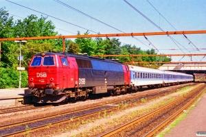DSB MZ 1428+DB Bim+ARKimbz+Bimz+Bimz+Bim som IP 2185 Fh-Pa. Fredericia 30.06.1995.
