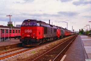 DSB MZ 1456+ME 1524 med EC 186 Rf-Kh. Nykøbing F. 05.07.1995.