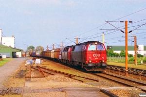 DSB MZ 1431+MZ 1404 med G 7372 Od-Pa. Taulov 07.07.1995.