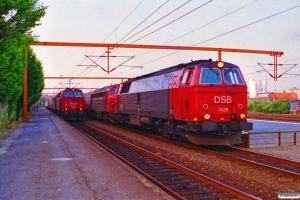 DSB MZ 1401+MY 1151 med GK 42893 Tl-Pa og MZ 1429+MY 1131 med GK 43791 År-Pa. Kolding 07.07.1995.
