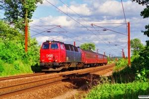 DSB MZ 1410+B+B+B-t som RV 3153 Ngf-Fa. Skalbjerg 13.06.1996.