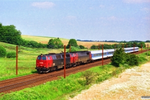 DSB MZ 1426+MZ 1431 med IP 2185 Fh-Pa. Km 16,1 Fa (Taulov-Kolding) 21.07.1996.
