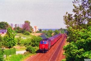 DSB MZ 1413 med RV 3140 Ab-Ngf. Km 99,4 Fa (Hasselager-Kongsvang) 23.07.1996.