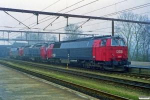 DSB MZ 1436+ME 1506+MZ 1441 solo som M 7450 År-Fa. Fredericia 31.03.1999.