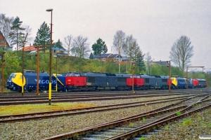 DSB EG 3101, MZ 1454, MZ 1461, EG 3104, DB 185 002-3 og MY 1135. Sønderborg 19.04.2000.