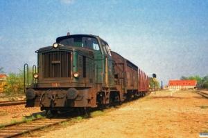 DSB MH 308 med godstog Uv-Od. Ullerslev 08.05.1987.