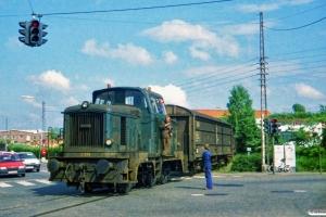 DSB MH 339 med godsvogne fra FDB. Odense 11.06.1987.
