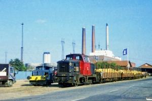 H.J. Hansen Traktor og DSB MH 376. Odense 02.10.1987.