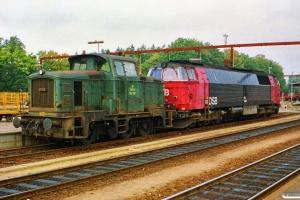 DSB MZ 1446+MH 317 som M 7141 Od-Fa. Fredericia 29.09.1990.
