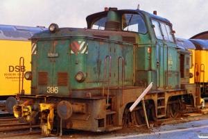 DSB MH 396 afsporet. Århus 20.11.1992.