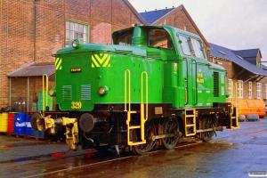 DSB MH 329. Århus 20.11.1992.