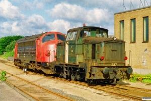 DSB MY 1118+MH 337 som M 7139 Od-Fa. Odense 20.08.1994.