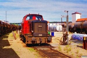DSB MH 310. Vejle 08.09.1996.