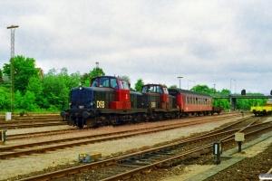 DSB MT 167+MT 163. Korsør 17.06.1997.