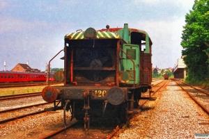 DSB Traktor 126. Århus 30.06.1988.