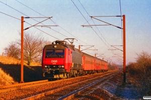 DSB EA 3019+B 543+B 332+Ba 012+ADns-e 542 som RV 2729 Od-Fa. Km 33,8 Ng (Odense-Holmstrup) 26.01.1997.