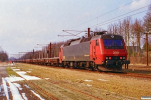 DSB EA 3006+18 Ks (læsset med skærver)+EA 3005 som G 6639 Sg-Uv. Ullerslev 23.03.1997.