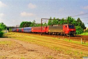DSB EA 3004+Bc+WLABmh+Bc-t+Bc-t+WLABmh som IP 13282 Pa-Htå. Odense 21.06.1998.