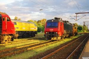 DSB EA 3006+MK 601, VNJ MY 1154 og Wiebe Lok 7. Padborg 15.09.2001.