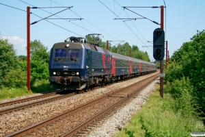 DSB EA 3001+Bc-t 311+315+310+317+314+313+ADns-e 545 som IR 1651 Kh-Fa. Km 155,6 Kh (Marslev-Odense) 06.06.2008.