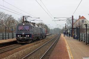DSB EA 3004+ME 1501 som M 6021 Gb-Od. Viby Sjælland 20.03.2015.