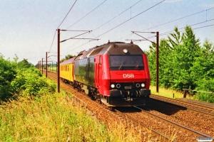 DSB ME 1518+Målevogn som M ? Rg-Gb. Viby Sjælland 23.06.1992.