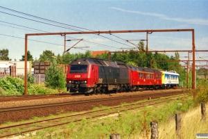 DSB ME 1519+ADns-e 527+BV QIH 807498502382 som M 8135 Ro-Fa. Odense 27.08.2000.