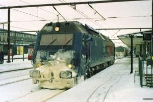 DSB ME 1506 som M 6051 Ro-Næ (snerydning). Roskilde 24.02.2007.