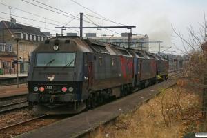 DSB ME 1521+ME 1515+ME 1513 som M 8336 Gl-Kh. Glostrup 17.11.2012.
