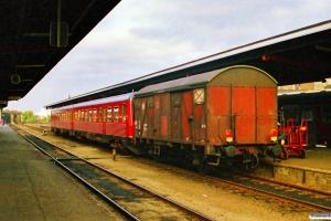 DSB MR/D 28+DB Gs som P 2869 Svg-Od. Odense 06.08.1988.