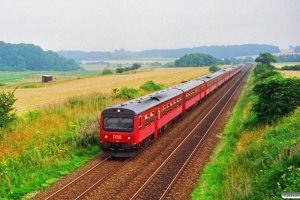 DSB MR/D 05+MR/D 91+MR/D 83+MR/D 40+MR/D 26 som M 8363 Od-Te. Km 25,7 Fa (Kolding-Lunderskov) 28.07.1994.