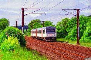 DSB MR/D 53 som RV 3628 Fa-Va. Km 14,4 Fa (Taulov-Kolding) 16.06.1996.