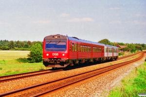 DSB MR/D 05+MR/D 09 som RV 3648 Fa-Es. Km 36,2 Lk (Gørding-Bramming) 21.07.1996.