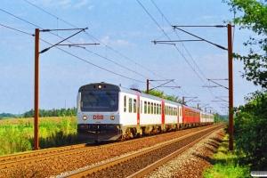 DSB MR/D 32+MR/D 75+MR/D 10+MR/D 13 som IR 3630 Od-Es. Km 165,2 Kh (Odense-Holmstrup) 01.09.1997.