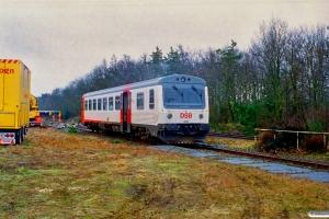 DSB MRD 4243. RV 3705 Fa-Str (4202+4002) kørte ind i holdende RV 3712 Hr-Fa (MR 4043+4243). Kølkær 02.03.2000.