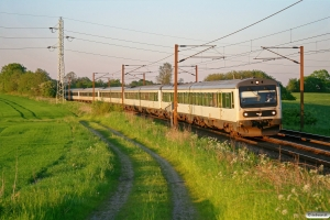 DSB MR/D 17+MR/D 34+MR/D 06+MR/D 72+MR/D 58 som M 7075 Rg-Fa. Km 174,0 Kh (Holmstrup-Tommerup) 23.05.2012.