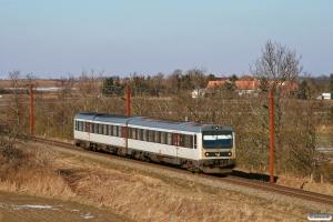 DSB MR/D 14 som M 7038 Fa-Rq. Km 54,4 Fa (Sommersted-Vojens) 15.03.2013.