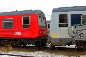 DSB MRD 4257 og MRD 4259 hensat. Fredericia 10.01.2016.